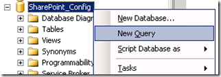 SQL Server Management Studion - New Query