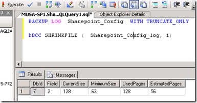 Backup Log with Truncate only and DBCC Shrink Command