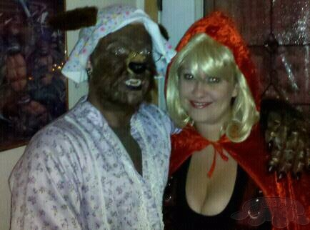 Misty and I as Little Red Riding Hood and Granny Wolf Costume
